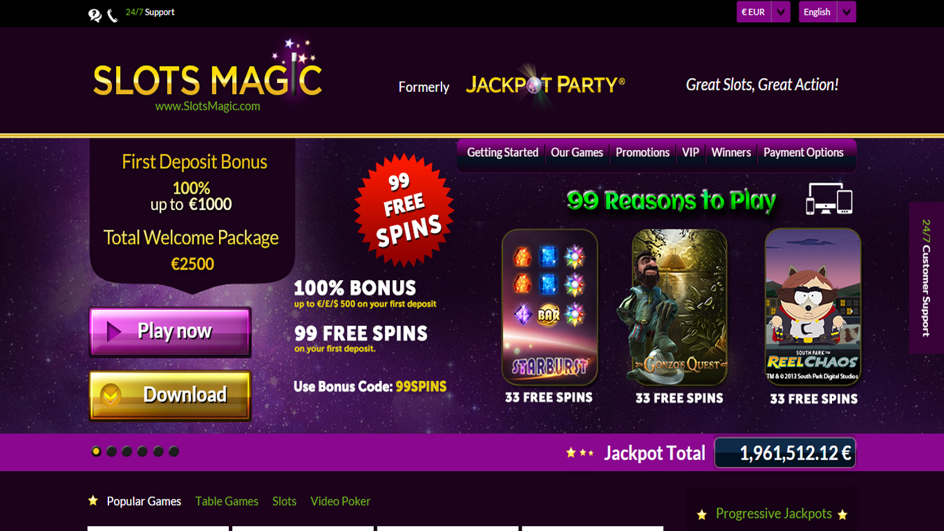 Slot magic casino vincendo mini casino