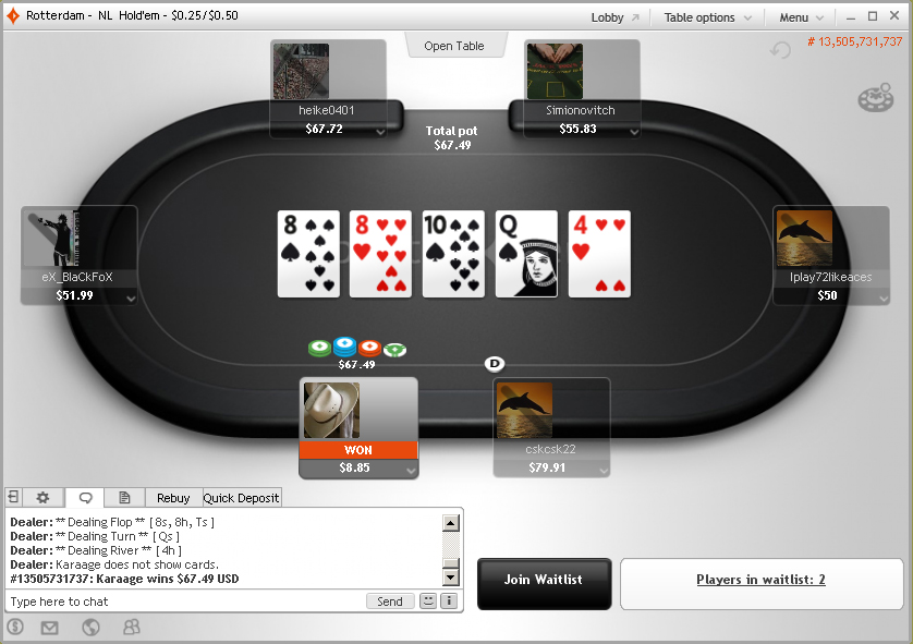 GL-Wiki - Rooms pokers: PartyPoker