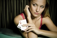 The combination of a woman and poker can bring good luck